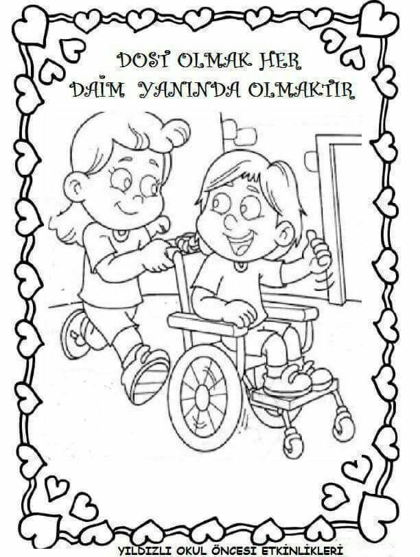 Engelliler Haftası Boyama Sayfaları Engelliler Haftası