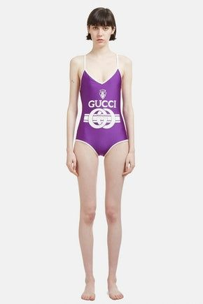 b712f4f402 Gucci Vintage Retro logo Swimsuit in Purple