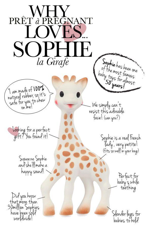 Why Prêt à Pregnant loves.... Sophie la Girafe - Pret a Pregnant #Sophielagirafe #Pretapregnant