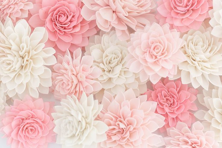 10 Blush Wooden Flowers, Wedding Decorations, Wedding Flowers, Rustic Wedding Decor