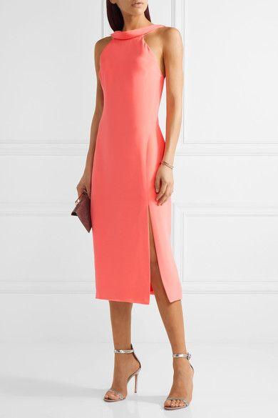 Cushnie et Ochs - Anna Cutout Silk-crepe Midi Dress - Papaya - US12