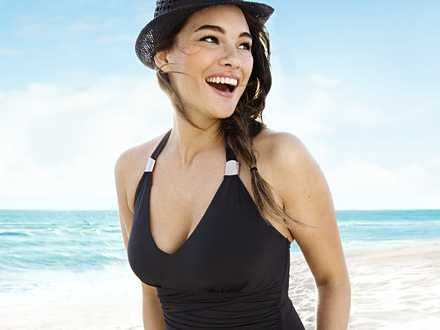 The fashion industry considers this beautiful woman obese! Kudos to h plus size model beachwear