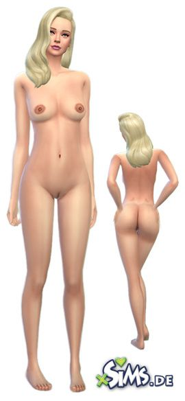 The sims nude skin shaven female