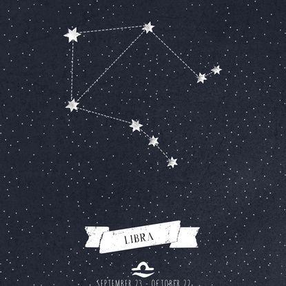 Libra Constellation Print Art Print   Tattoos   Libra ...