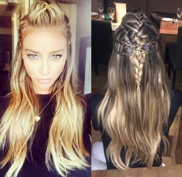 TOWIE's Lauren Pope looks fabulous with half-up, braided hair