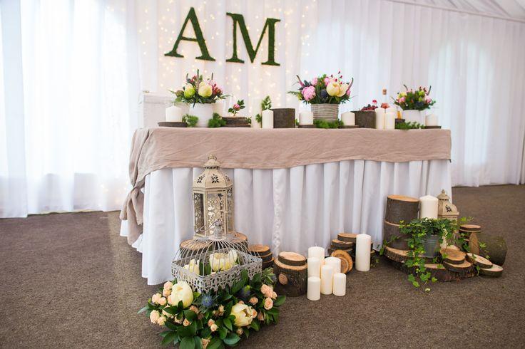 президиум, стол молодоженов, декор/флористика, эко-свадьба, ,
