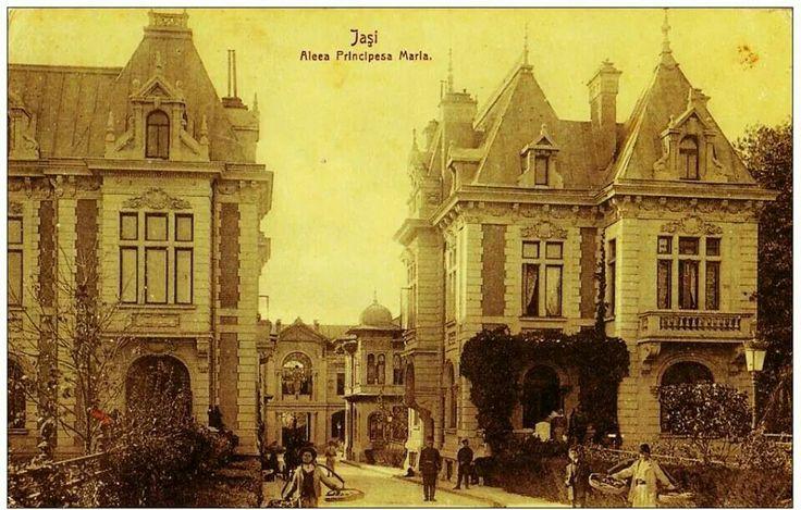 """Aleea """"Principesa Maria"""",1910-1915, Iasi, Romania"""