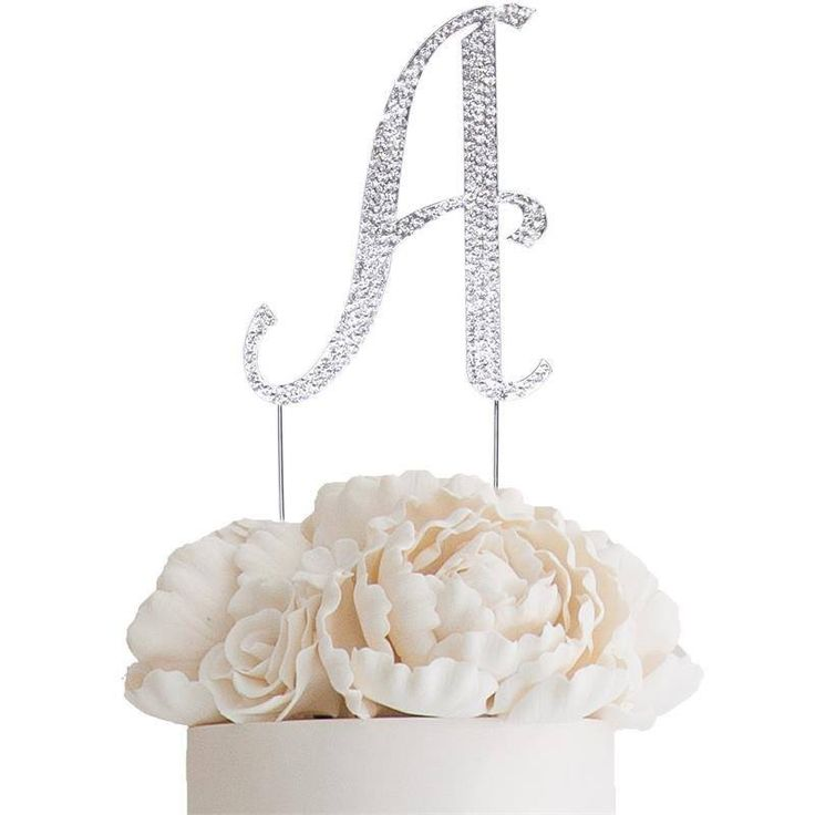 """4.5"""" Bedazzling Rhinestone Letter Cake Toppers"""