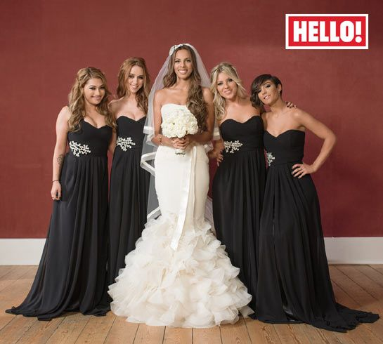 Rochelle Wiseman and bridesmaids The Saturdays they all look amazing, love these girls. Love Rochelle's dress!