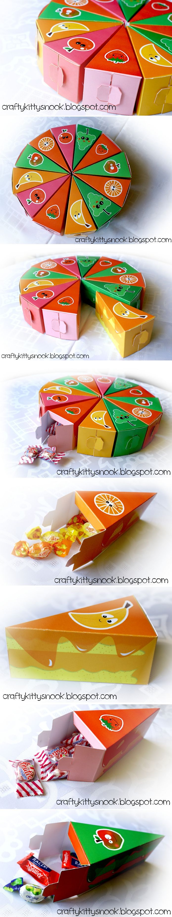 http://craftykittysnook.blogspot.com/2013/09/papierowy-tort-owocowy-paper-fruit.html - Fruit Paper Birthday Cake