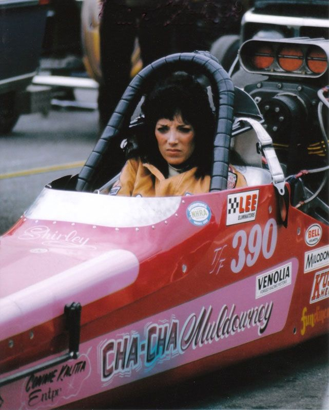 "(>2014-2015<) - SHIRLEY MULDOWNEY (Shirley Ann Roque) Wednesday, June 19, 1940 - Burlington, Vermont, USA.  >ladies of the 70s: ""Shirley Muldowney, NHRA Champion """