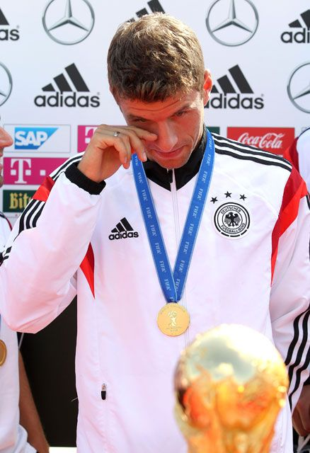 Ankunft der Weltmeister in Tegel: Thomas MüllerGermany's World Cup Homecoming -15.7.14