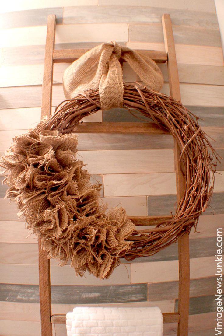 Simple Burlap Wreath Tutorial
