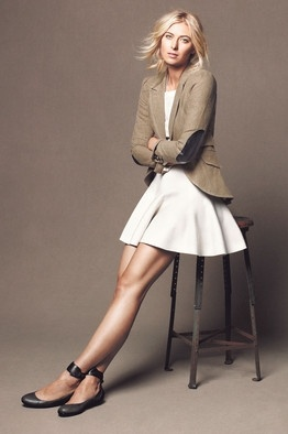 Maria Sharapova in Smythe Les Vestes