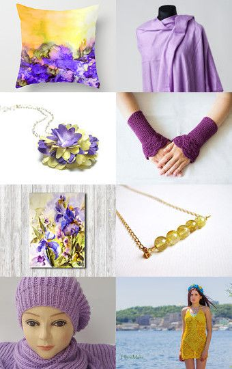 PURPLE AND YELLOW MORNING by Ramune on Etsy--Pinned with TreasuryPin.com