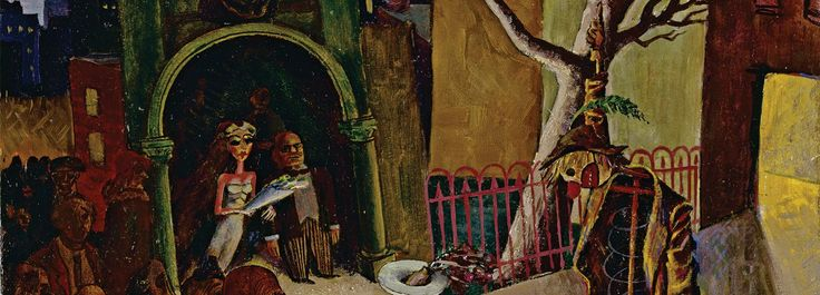 Albert Tucker, We are the Dead Men 1940, oil on cardboard, 47 x