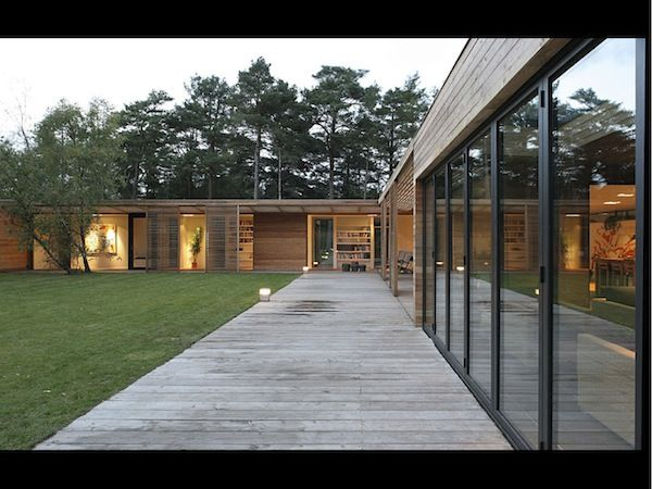 Decking as wide as house is tall