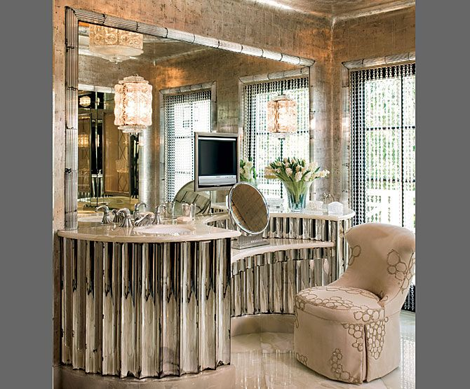 Art Deco Bathroom Amazing Mirrored Vanity