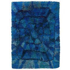 """Blue Moon"" Swedish pile carpet Viola Gråsten designed"