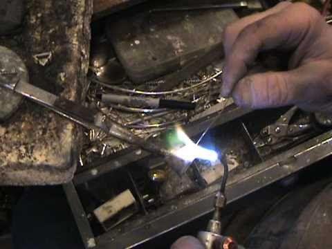 basic silversmithing, making a custom prong setting, attaching bail to pendant