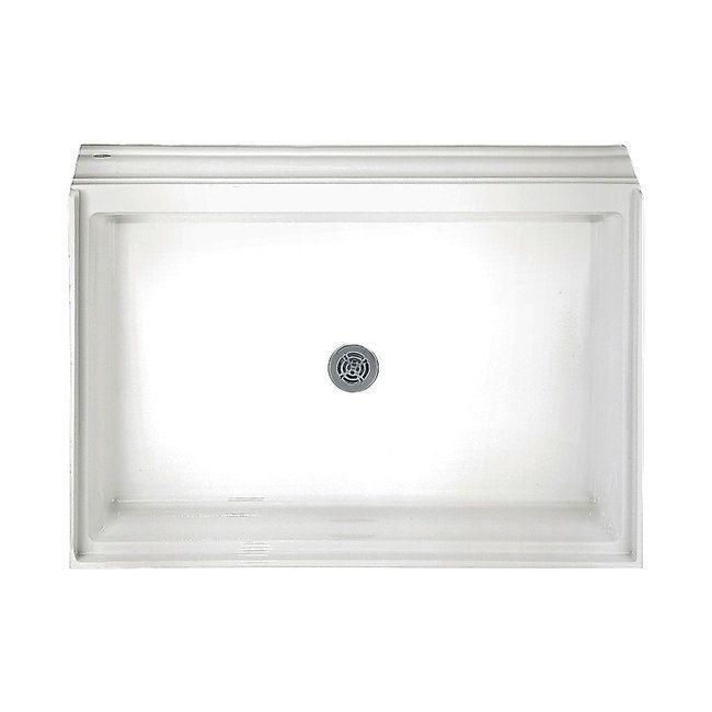 "American Standard Acrylic Single Threshold White Shower Base, Size 34"" x 60"""