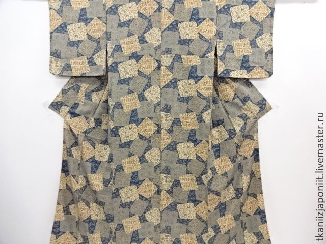 """Купить Японское кимоно """"У истоков цивилизации"""" - синий, японское кимоно, японское кимоно купить"""