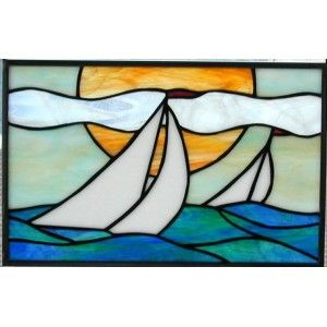 Stained Glass Boat.
