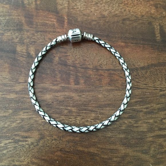 Pandora Rope Bracelet Gray color. Leather rope bracelet. AUTHENTIC Pandora. Pandora Jewelry Bracelets