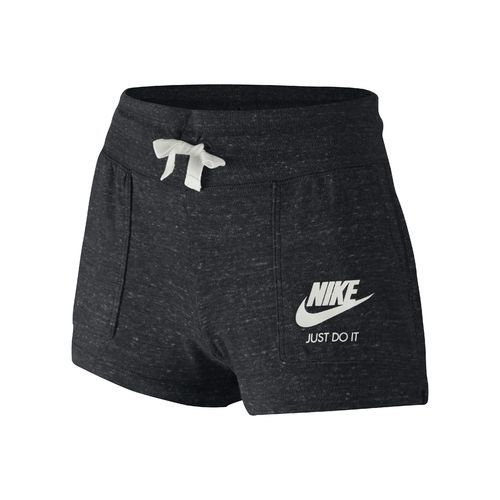 Nike Girls' Gym Vintage Short (Black/Sail, Size Large) - Girl's Apparel, Girl's Athletic Shorts at Academy Sports