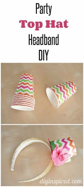 Party Top Hat Headband DIY-Cute for a Halloween Party or New Years or Kid's Party