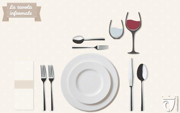 """Come apparecchiare tavola: la mise en place informale.  I suggerimenti per una tavola davvero """"classy"""" su http://www.vinicartasegna.it/come-apparecchiare-tavola-mise-en-place/"""