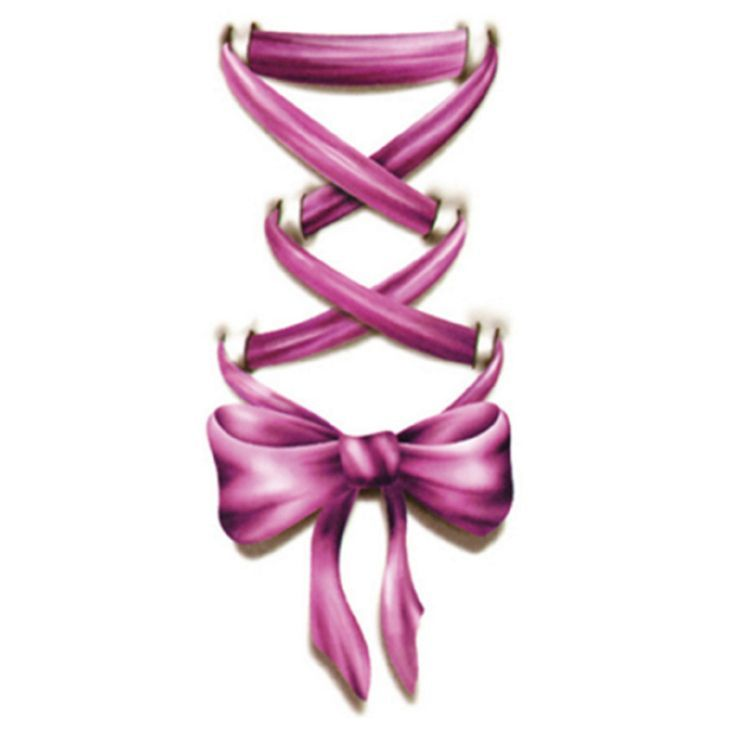 Image result for ribbon bow tattoo outline