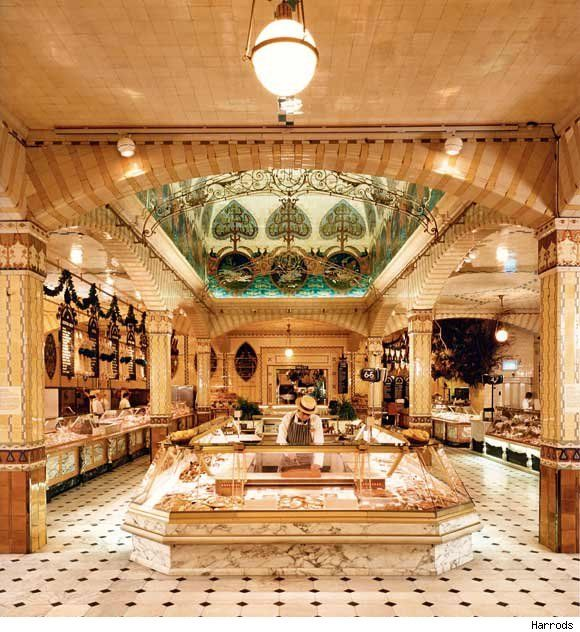 Harrods Food Court, A Gastronomic Heaven, London  An amazing place.  This is only a tiny speck of how large the food court is!  Extremely expensive!!!  Harrod's is a must do when in London!    Nicki