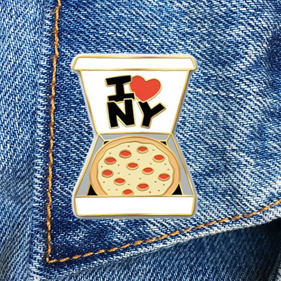 NY Pizza Pin, I Heart NY, Enamel Pin, Soft Enamel Pin, Jewelry, Art, Gift (PIN36)