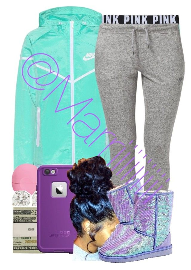 """""""Grandma and Granddaughter Day"""" by trill-forlife ❤ liked on Polyvore featuring NIKE, Victoria's Secret PINK, Eos, Jack Spade, LifeProof and UGG Australia"""
