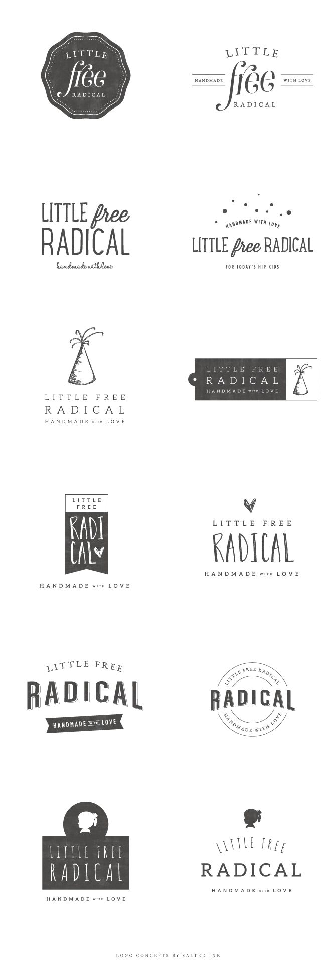 Brand Launch – Little Free Radical | Logo Concepts by Salted Ink | www.saltedink.com | #logo #concepts #brand #branding