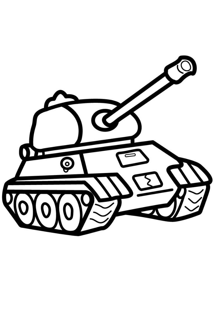 How To Draw A Tank Coloring Pages For Kids Tank Coloring And