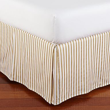 This is such a cute way to add a little shine to your bed.....The Emily + Meritt Metallic Stripe Bed Skirt #pbteen