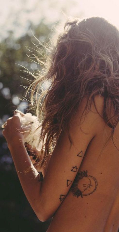 Triangular Tattoos That Beautifully Celebrate The Four Elements