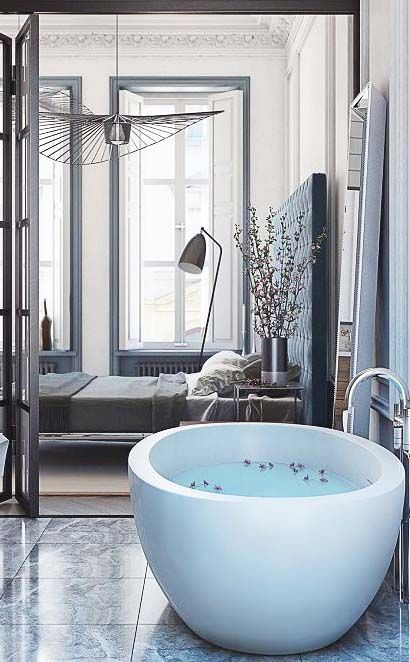 own your morning // bathroom // home decor // interior // luxury life // city suite // urban life // city living // wall art //
