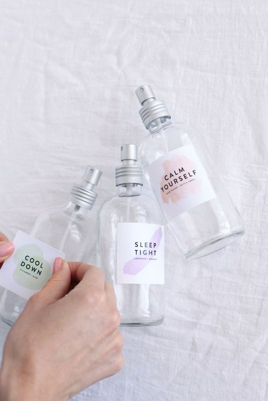 DIY relaxing face mists-good links for additional supplies