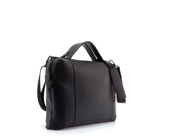 b0798d57a3 BRIEFCASE WITH WEAVING from Zara $90 | Burn Some Dough! | Briefcase for men,  Zara man, ZARA