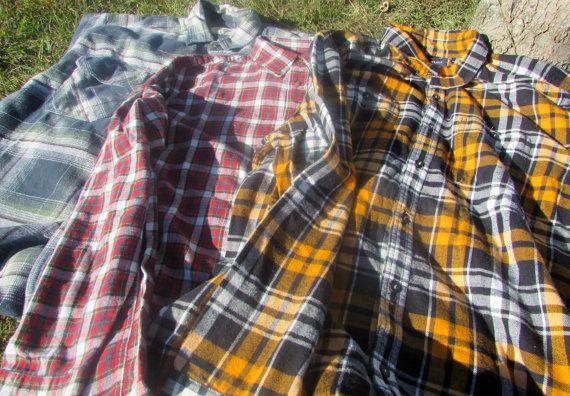 Vintage Flannel Shirt   Hippie Flannel by sistersvintageattic