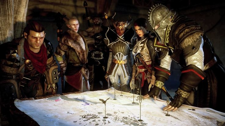 Iron Bull, Vivienne, Solas and others star in this Dragon Age: Inquisition screenshot