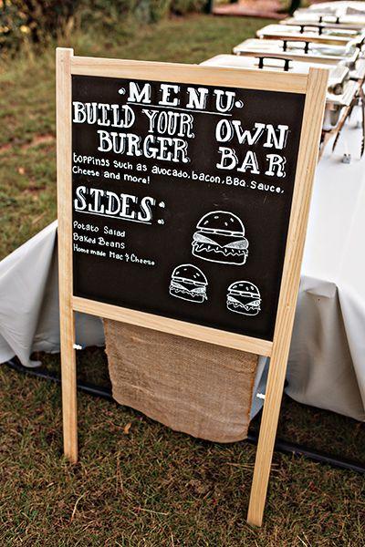 Fun wedding menu idea -- a build-your-own-burger bar!