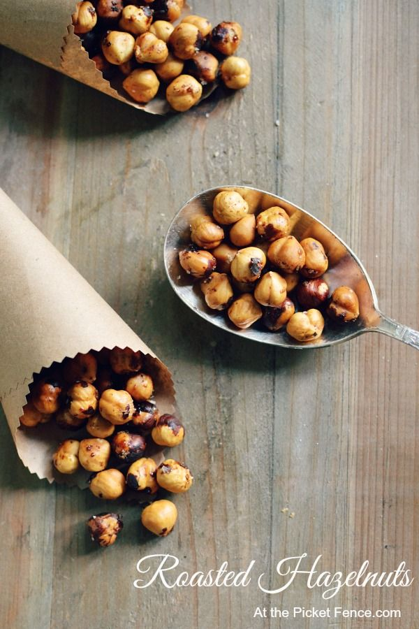 Two recipes in one! How to roast fresh hazelnuts and then how to spice them up with seasonings. From At the Picket Fence.com