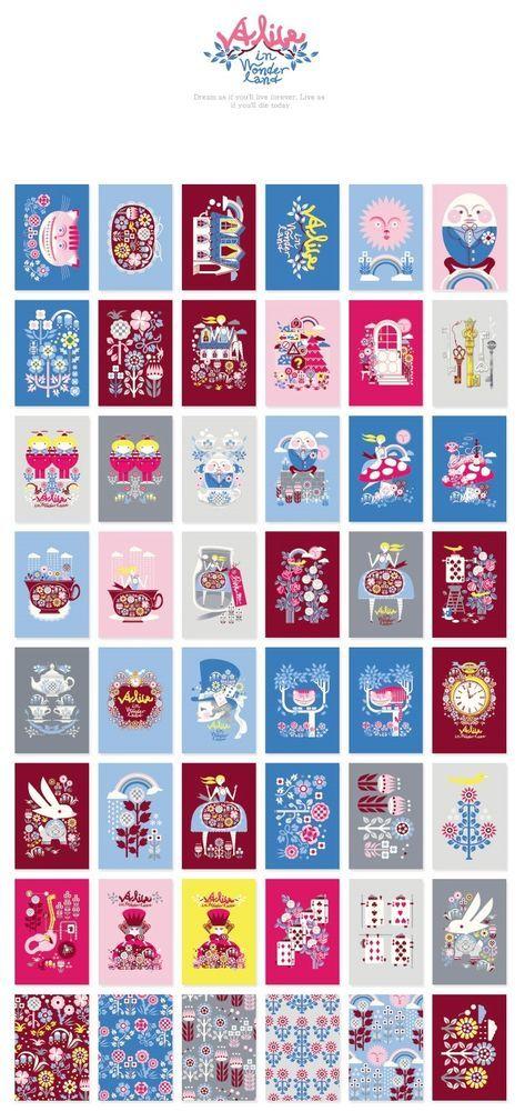 3 packs sticker - Alice, Gogoon, Snow (48 sheet x 3 pack = 144 sheet)