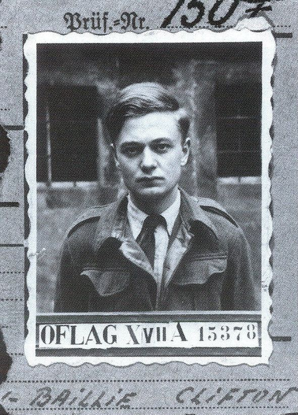 Jock Hamilton-Baillie's identity card from Colditz Castle, where he was sent following the Warburg Wire Job and Eichstätt Tunnel. His last escape had taken him literally to within a stone's throw of Switserland after he had broken out of a German castle and walked to the Alps. The German commandant at Laufen had been so impressed by his daring that instead of punishing him when he was recaptured, he had thrown a dinner in his honor. Photo & info by Mark Felton in Zero Night.