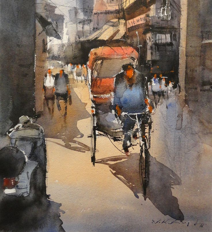 Indian watercolour art