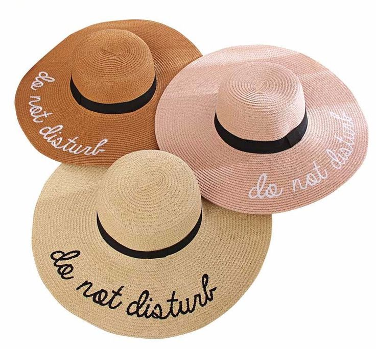 """""""Do Not Disturb"""" Embroidered Wide Brim Sun Hat In 6 Color Choices"""